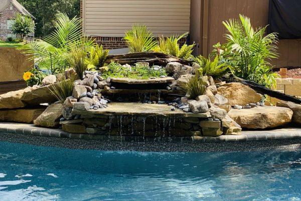 custom waterfall builder, zappa waterfalls and hardscaping